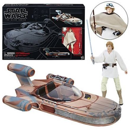 Star Wars The Black Series Luke Skywalkers Landspeeder & Action Figure